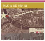 Opens a 1.5Mb PDF map - MLK to Southeast 15th St